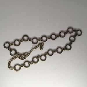 Metal rings and chain belt.